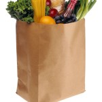 Shopping bag with veggies