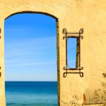 Door and windows, sea and sky