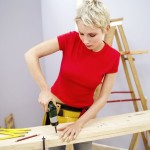 Woman carpentar