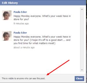 Facebook Edit History