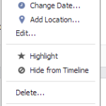 Facebook Edit Feature