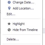 Facebook Edit Feature