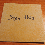 Scan and go paperless