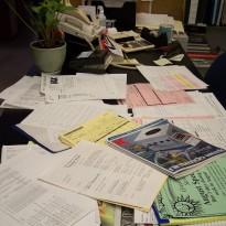 Desk De-cluttering