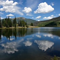 Reflection Time-Lake and Mountain