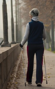 Walking woman-exercise time