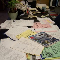 Messy Desk Clutter Cycle