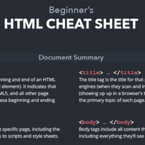 HTML Cheat Sheet and Other Resources for Finding Time
