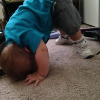 Mistakes-Toddler Standing on His Head