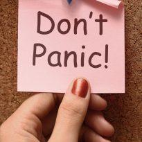 Holiday Stress Don't Panic