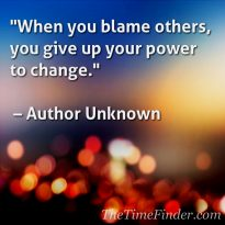 Blame others