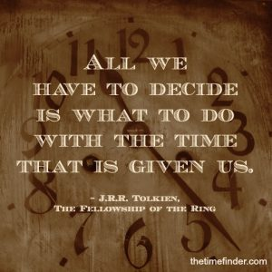 time choices Tolkien