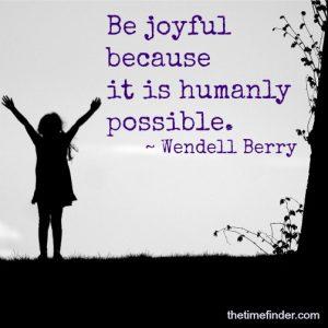 joyful feeling gratitude