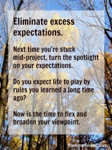 expectations and perfectionism