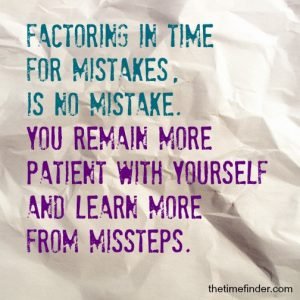 Mistakes Excellence vs perfection