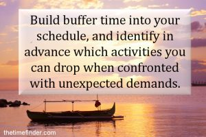 buffer time for change