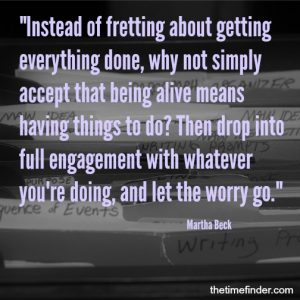 stop fretting