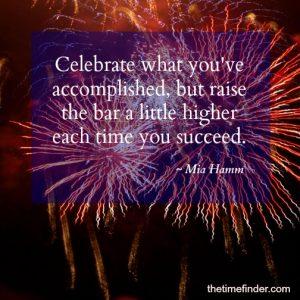 celebrate follow-through on commitments